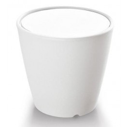 Omnia Multipurpose White Laminate Top Pot/Vase/Seat/Table