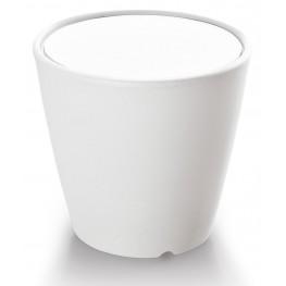 Omnia Multipurpose White Glass Top Pot/Vase/Seat/Table