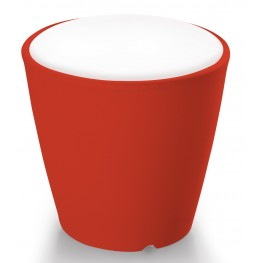 Omnia Multipurpose Red Cushion Top Pot/Vase/Seat/Table