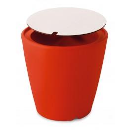 Omnia Multipurpose Red High Pressure Laminate Top Pot/Vase/Seat/Table