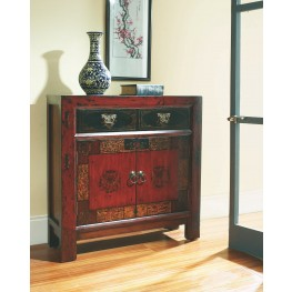 Red Asian 1 Drawer Hall Chest