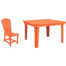 "Generations Orange 46"" Square Dining Room Set"