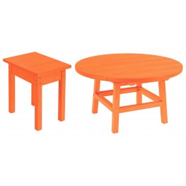 "Generations Orange 32"" Round Occasional Table Set"