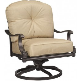 Primera Sunbrella Heather Beige Swivel Rocking Lounge Chair