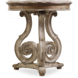Chatelet Gray Scroll Accent Table