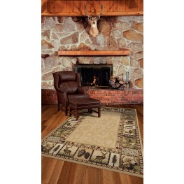 "Oxford High Country Praline Large 130"" Rug"