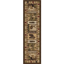"Oxford High Country Sienna Runner 96"" Rug"