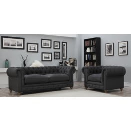 Oxford Gray Linen Living Room Set