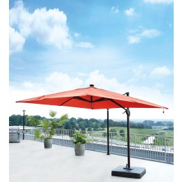Oakengrove Coral Large Cantilever Outdoor Umbrella