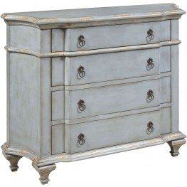French Blue 4 Drawer Accent Chest