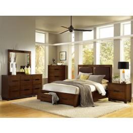 Portland Nutmeg Upholstered Bedroom Set