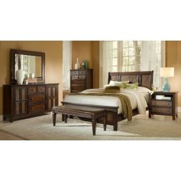 Kingston Isle Havana Brown Sleigh Bedroom Set