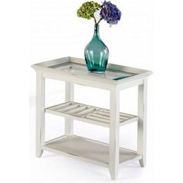 Sandpiper II White Chairside Table