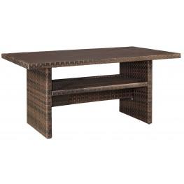 Salceda Beige and Brown Rectangular Multi-Use Table