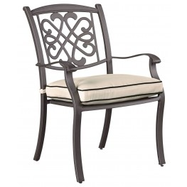 Burnella Beige and Brown Outdoor Chair Set of 4