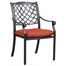 Tanglevale Burnt Orange Outdoor Chair Set of 4