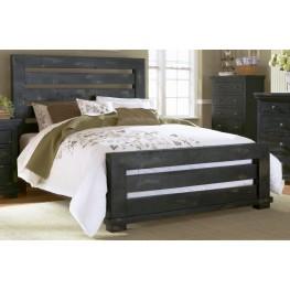Willow Distressed Black Slat Bedroom Set