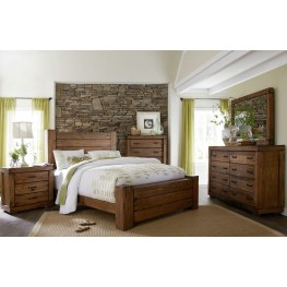 Maverick Driftwood Panel Bedroom Set
