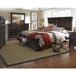 La Cantera Tobacco Panel Storage Bedroom Set
