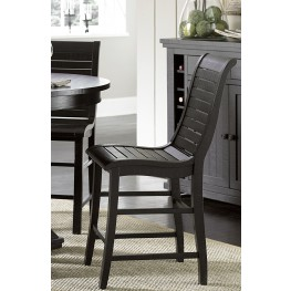 Willow Distressed Black Counter Chair Set of 2
