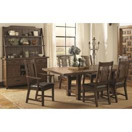 Padima Rustic Rough-Sawn Rectangular Extension Dining Room Set