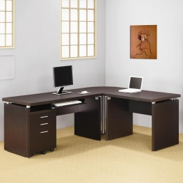 Skylar Cappuccino L Desk