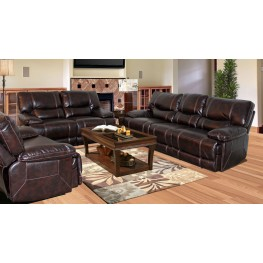 Pegasus Nutmeg Dual Power Reclining Living Room Set