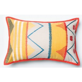 Allison II Yellow and Multi-Color Rectangular Pillow