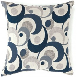 "Swoosh Blue 22"" Pillow Set of 2"