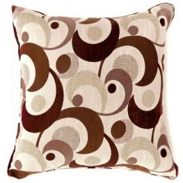 "Swoosh Brown 18"" Pillow Set of 2"