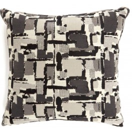 "Concrit Black 18"" Pillow Set of 2"