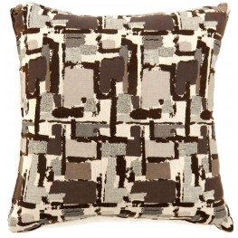 "Concrit Brown 22"" Pillow Set of 2"