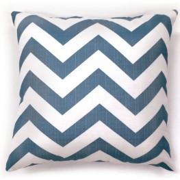 "Zoe Blue Chevron 18"" Pillow Set of 2"