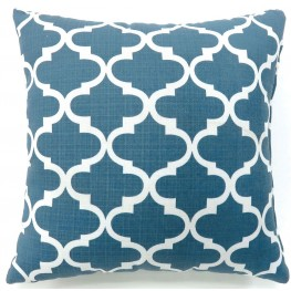 "Xia Blue Quatrefoil 22"" Pillow Set of 2"