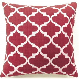 "Xia Red Quatrefoil 18"" Pillow Set of 2"