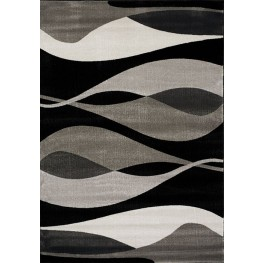 Platinum Black and Grey Drifts Large Rug
