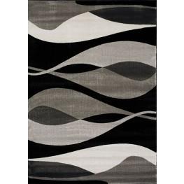 Platinum Black and Grey Drifts Large Rug