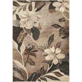 "Platinum Antiqued Copper Flowers 94"" Rug"