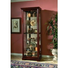 Victorian Cherry Two Way Sliding Door Curio