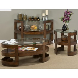 Avon Birch Oval Occasional Table Set