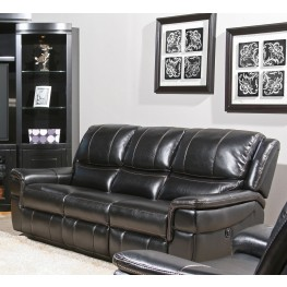 Python Black Dual Power Reclining Sofa