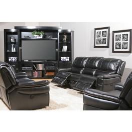 Python Black Dual Power Living Room Set