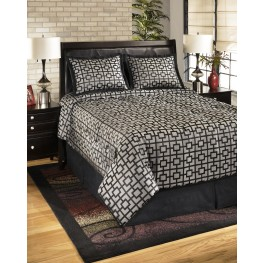 Maze Onyx King Bedding Set