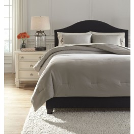 Aracely Taupe Queen Comforter Set