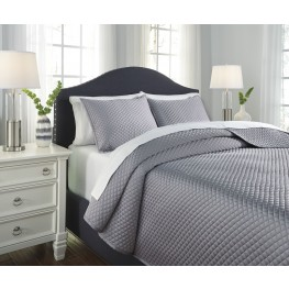 Dietrick Gray Queen Quilt Set