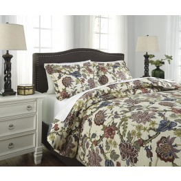 Dameka Floral King Duvet Cover Set