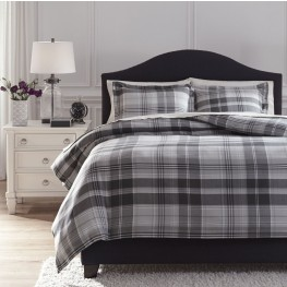 Danail Gray King Duvet Cover Set