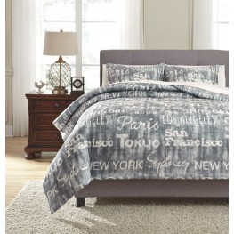 Jeremie Charcoal King Comforter Set