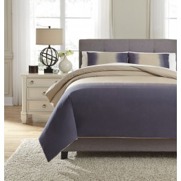 Brandon Indigo Queen Comforter Set