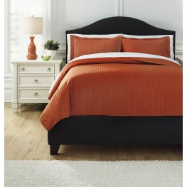 Raleda Orange King Comforter Set